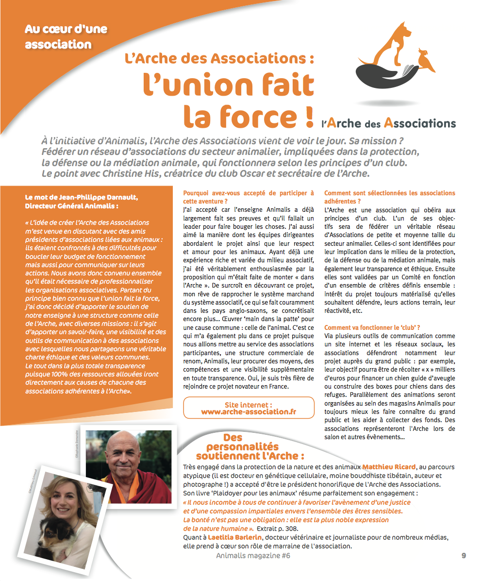 L'arche des associations - AnimalisMag